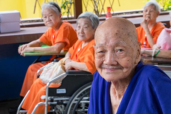 Lee Ah Mooi Nurisng home elderly in wheelchair